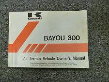 1994 Kawasaki KLF300-B7 Bayou 300 ATV Owner Operator Manual User Guide Book