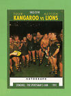 1991 KANGAROOS V LIONS RUGBY LEAGUE CARD #182 THE TEAM
