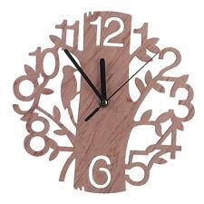 22 cm dia grand arbre en bois en forme de mur horloge maison salon tv fond