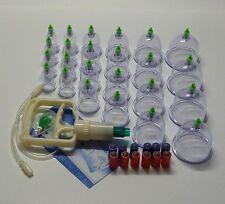 Schröpfen Set Vakuum Massage mit 24 Schröpfgläser aus Kunststoff