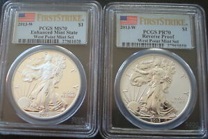 2013 American Eagle West Point Two-Coin Set Proof PCGS MS 70-PR70