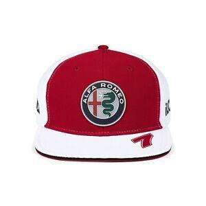 Alfa Romeo Racing F1 2021 Team Kimi Raikkonen Hat Red Flat Brim