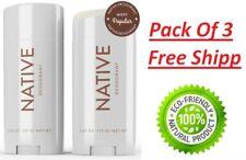 Pack of 3 Native Deodorant Coconut & Vanilla Paraben And Aluminum Free 2.65 Oz