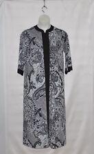 Joan Rivers Petite Length Paisley Print Jersey Lounger Size 1XP Grey