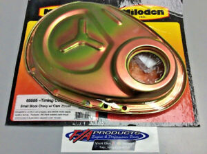 Milodon 65555 ReInforced Timing Cover For Small Block Chevy Gold Anodized