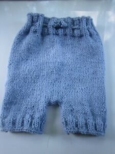 """Baby Diaper Cover Wool Soaker Hand Knit Prewashed Lanolized Lavender Blue 18"""""""