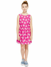 Marks and Spencer Polyester Sleeveless Knee Length Girls' Dresses (2-16 Years)