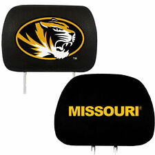 License NCAA University of Missouri Tigers Head Rest Covers Universal