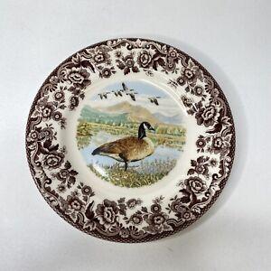 "Spode Woodland Canada Goose Salad Plates 7.75"" Made In England Set Of 2 NWT"