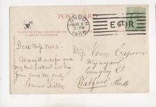 London E Crown R Machine Cancel 9 Aug 1905 400b