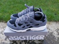 Asics Gel Diablo Size 8 UK EU 42.5 Grey Black Carbon Mens Retro Trainers NEW