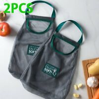 2 X Reusable Mesh Produce Bags Fruit Vegetable Storage Shopping Eco Friendly