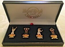 """2001 HARD ROCK CAFE NEW YORK """"YMCA"""" SERVERS COMPLETE (4) PIN LE SET"""