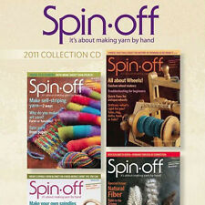 4 Issues on CD: SPIN-OFF MAGAZINE 2011 Make Stacked Spindle Crimp Yak Soay Sheep