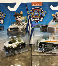 Tracker and Everest Paw Patrol True Metal Vehicles