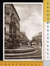 43489]  LECCE - FONTANA MONUMENTALE E VIALE LO RE  _ 1936