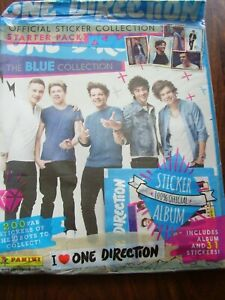 PANINI ONE DIRECTION BLUE COLLECTION STICKER ALBUM UNUSED WITH 31 STICKERS