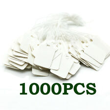 Lots 1000 Blank Writable Price Tags Hang Labels with String Tag Paper Cards