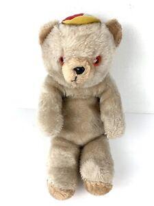 Vintage Atlanta Novelty Gerber Stuffed Plush Bear w/ Hat HTF Rare