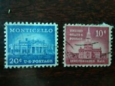 2 Francobolli Stati Uniti United States of America U.S.A. Monticello