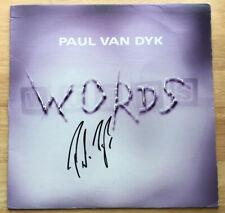 PAUL VAN DYK SIGNED AUTOGRAPHED WORDS VINYL RECORD! EDM DJ - TRANCE LEGEND!