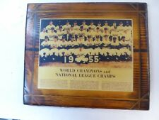 """1955 Brooklyn Dodgers World Champions 9.5"""" by 7.25""""  Full Color Plaque Original"""