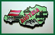 FMA-AUS AUSTRIA COUNTRY OUTLINE SOVENIR MAGNET  - GERMANY AUSTRIA