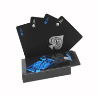 Quality Plastic Pvc Poker Waterproof Black Playing Cards Creative Gift Durable P