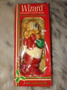Vintage 80's Wizard Teddy Bear stocking Decorative Air Freshener Christmas Spice