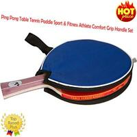 Ping Pong Table Tennis Paddle Sport & Fitness Athlete Comfort Grip Handle Set