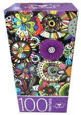 """100 piece Puzzle - Floral Doodles 11"""" x 15"""""""