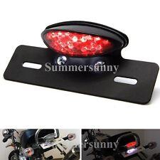 12V LED Motorcycle Rear Brake License Plate Tail Light For Bobber Cafe Racer