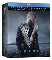 Vikings: The Complete Seasons 1 2 3 4 [Blu-ray Box Set TV Series History] NEW