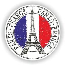 France Paris Stamp Bumper Sticker Decal for Car Laptop Tablet Door