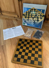 Cardinal Solid Wood Chess Set #187 100% Complete Oak Finish Board Hand Carved Pi