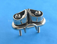 Boat Cam Cleat with Wire Fairlead - Marine 316 Stainless Steel