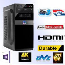 Desktop PC-Intel Core i5-8600-8GB DDR4 RAM-256GB SSD+1TB HDD-Win10 Pro-HDMI
