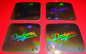 1990 Upper Deck Vintage 80's Logo Hologram Stickers Los Angeles Dodgers Lot of 4