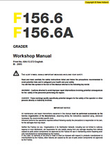 New Holland Graders F156.6 - F156.6A Service Manual