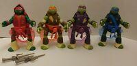 Teenage Mutant Ninja Turtles Battle N Throw Figures Lot Don Raph leo Viacom 2013