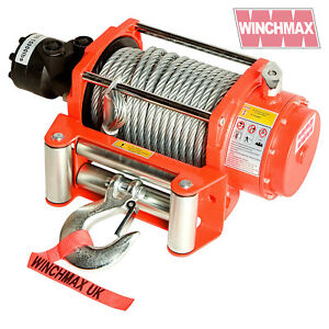 Hydraulik Winde 6804kg WINCHMAX Original Orange Winde, Stahl Seil - Winde