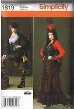 Victorian Steampunk Top Corset Skirt Bolero Bustle Costume Sew Pattern 6 8 10 12