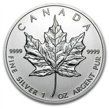 1 OZ argent silbermnze silver Maple Leaf 2012 5 $Canadian Canada Canada Nouveau