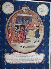 Original 1912 French Chocolates Advertisement A La Marquise De Sevigne