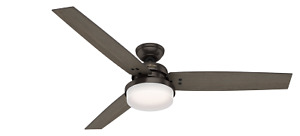 Hunter 60 Inch Remote Control Ceiling Fan Sentinel Premier Bronze 59457