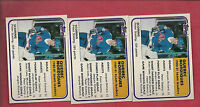 3 X 1981-82 TOPPS # 61 NORDIQUES PETER STASTNY SL NRMT-MT ROOKIE CARD