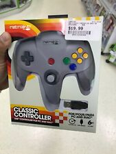 Retrolink Wired Nintendo 64 Style USB Controller For PC And Mac Gray And Black