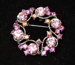 Vintage flower Style Brooches Silver /pink +rose+ab  high-quality Bouquet TU-17