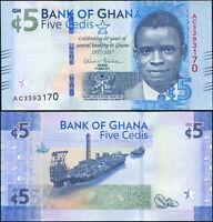 Ghana 5 Cedis. UNZ 04.03.2017 Banknote Kat# P.43a