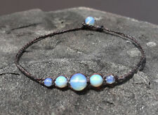 Opal Anklets,stone anklets,Men and Women anklets,handmade white anklets gift